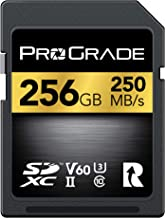 SD Card V60 (128GB) -Up to 130MB/s Write Speed and 250MB/s Read Speed | for Professional Vloggers, Filmmakers, Photographers & Content Curators - Update Firmware Included - by ProGrade Digital
