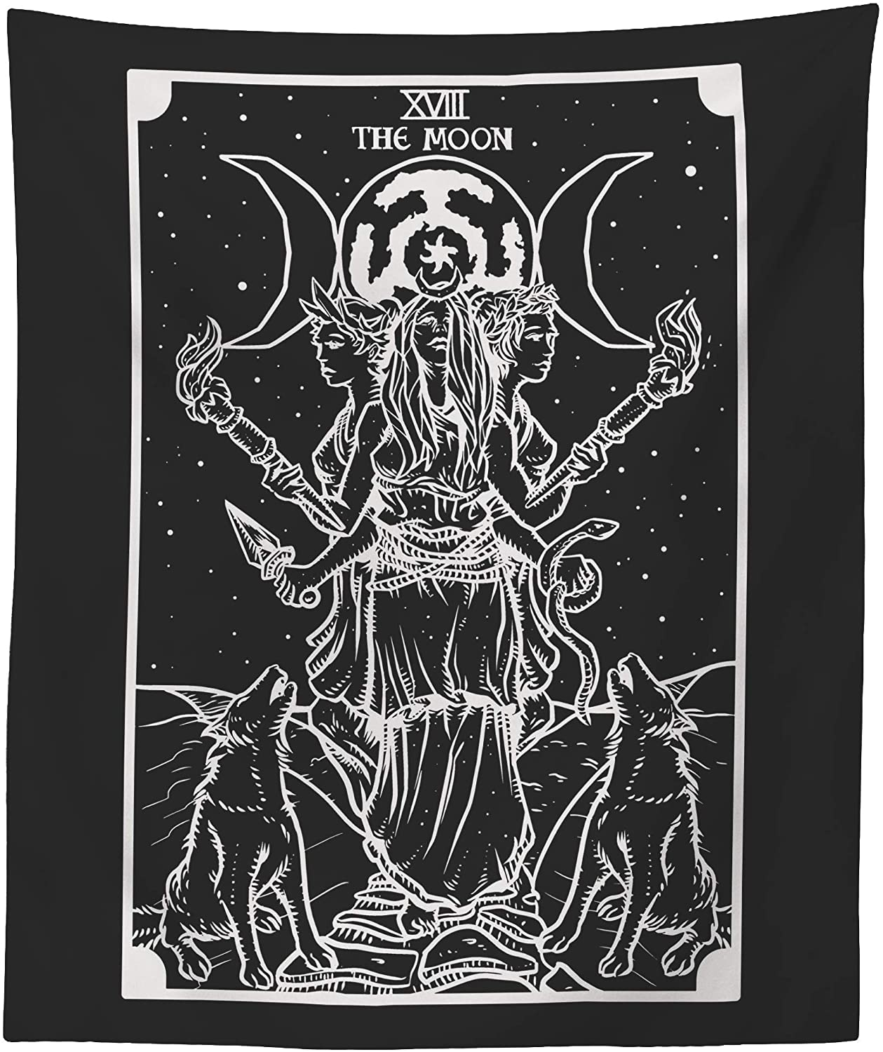 The Goddess Hecate Tarot Card Black - Tapestry White Max 46% OFF Inexpensive Triple