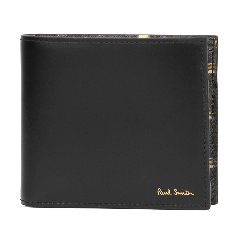 統治可能メルボルン作曲家Paul Smith(ポール?スミス) 2つ折り財布 ATXC 4833 W881 79 スカーフ ストライプ ブラック 黒/マルチ [並行輸入品]