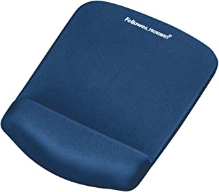 Fellowes PlushTouch Mouse Pad and Wrist Rest with FoamFusion Technology, Blue (9287301)