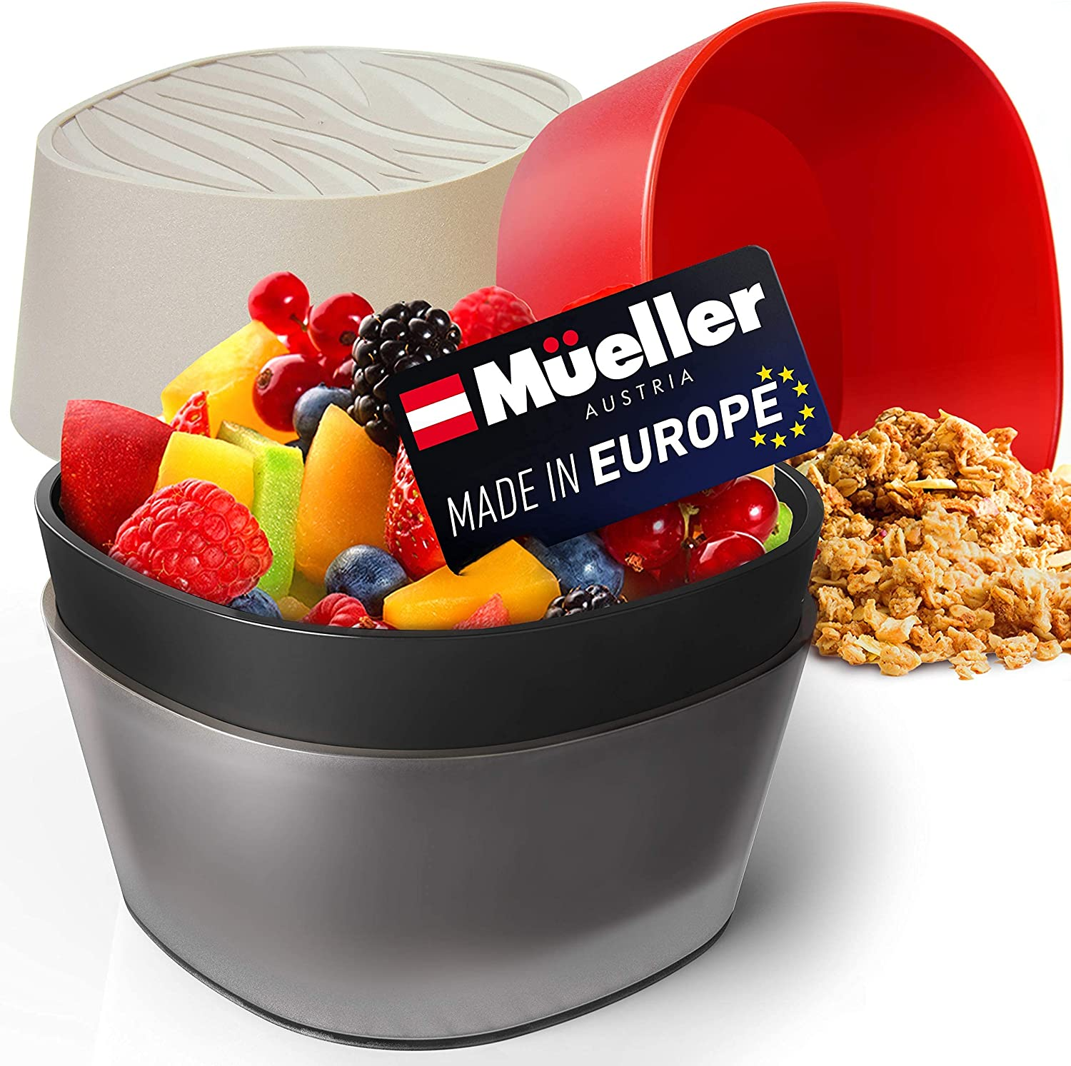 Mueller Max 81% OFF Snack Bowls Salad gift and Rice of 4 European Mad Set