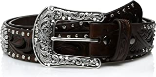 ARIAT Women's Scroll Cutout Concho Nail Belt