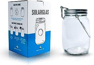Southlake, barattolo in vetro solare utilizzato come lampada solare/lanterna da giardino per balcone o cortile, energia pu...