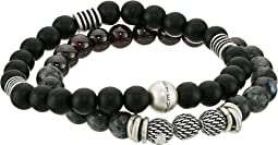 Steve Madden - Textured Ball Duo Bracelet Set
