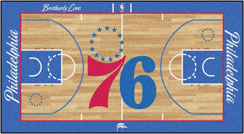 FANMATS - In a popularity 9501 NBA Philadelphia Court Runne Face 76ers Large-scale sale Nylon