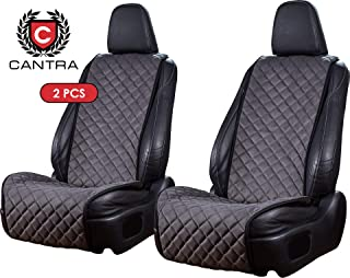 Cantra Z-Model | Front Car Seat Covers | Car Seat Protectors | Premium Quality | 100% Handcrafted | Compatible with 90% Cars, Trucks, SUVs, Minivans | 2-pc | Dark Grey