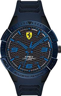 Ferrari Men's APEX Quartz Watch with Silicone Strap, Blue, 20 (Model: 0830665)