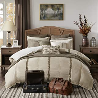 Madison Park Signature Chateau King Size Bed Comforter Duvet 2-In-1 Set Bed In A Bag - Taupe , Soutache Cord Embroidery – ...
