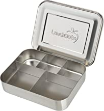 LunchBots Bento Cinco Large Stainless Steel Food Container - Five Section Design Holds a Well-Balanced Variety of Foods - Eco-Friendly Bento Lunch Box - Dishwasher Safe and BPA-Free - All Stainless