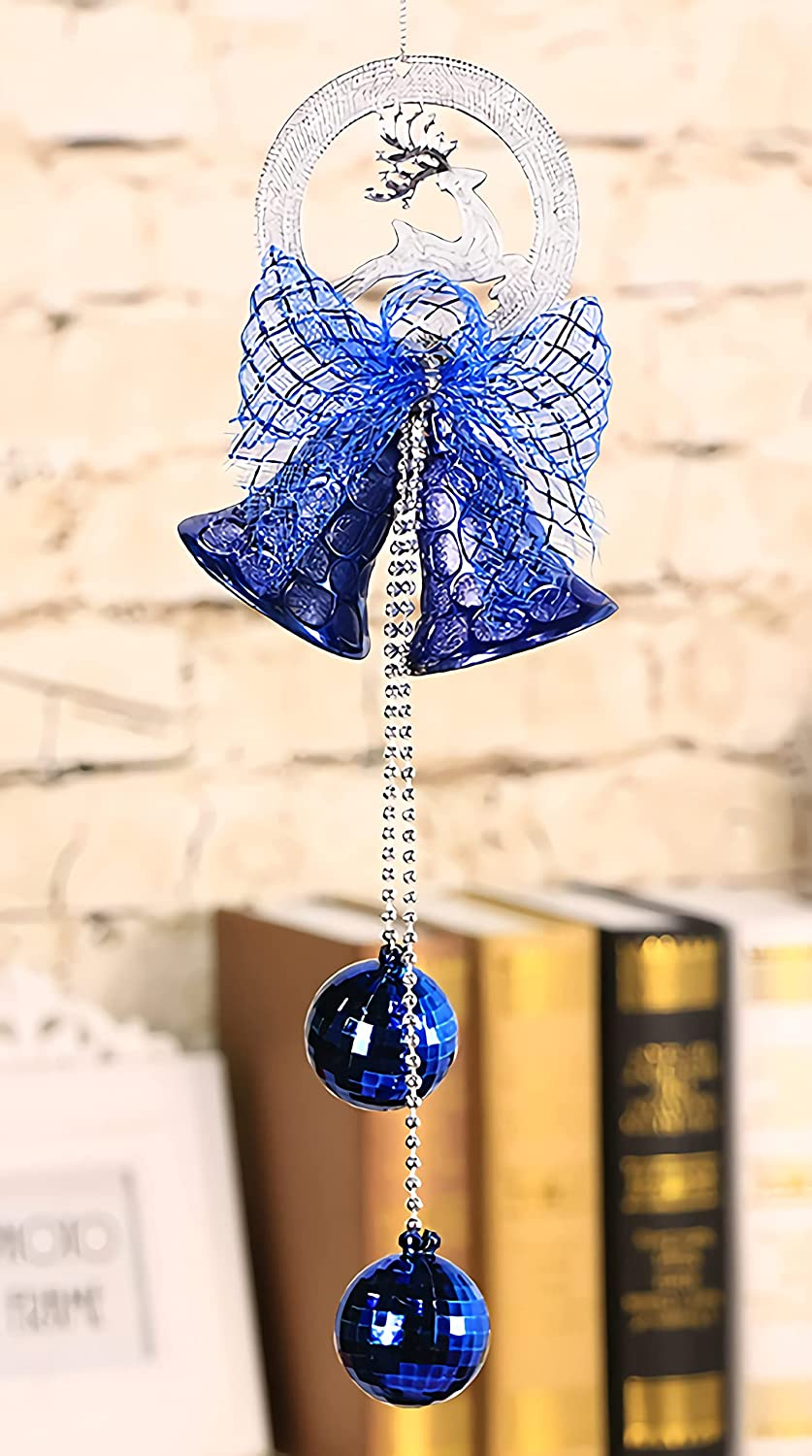 Christmas Tree Inexpensive Bells Ornament Bowknot Brand new H Blue Wind Bell