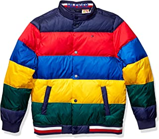 Tommy Hilfiger Boys' Adaptive Bomber Jacket with Magnetic Buttons and Down Fill