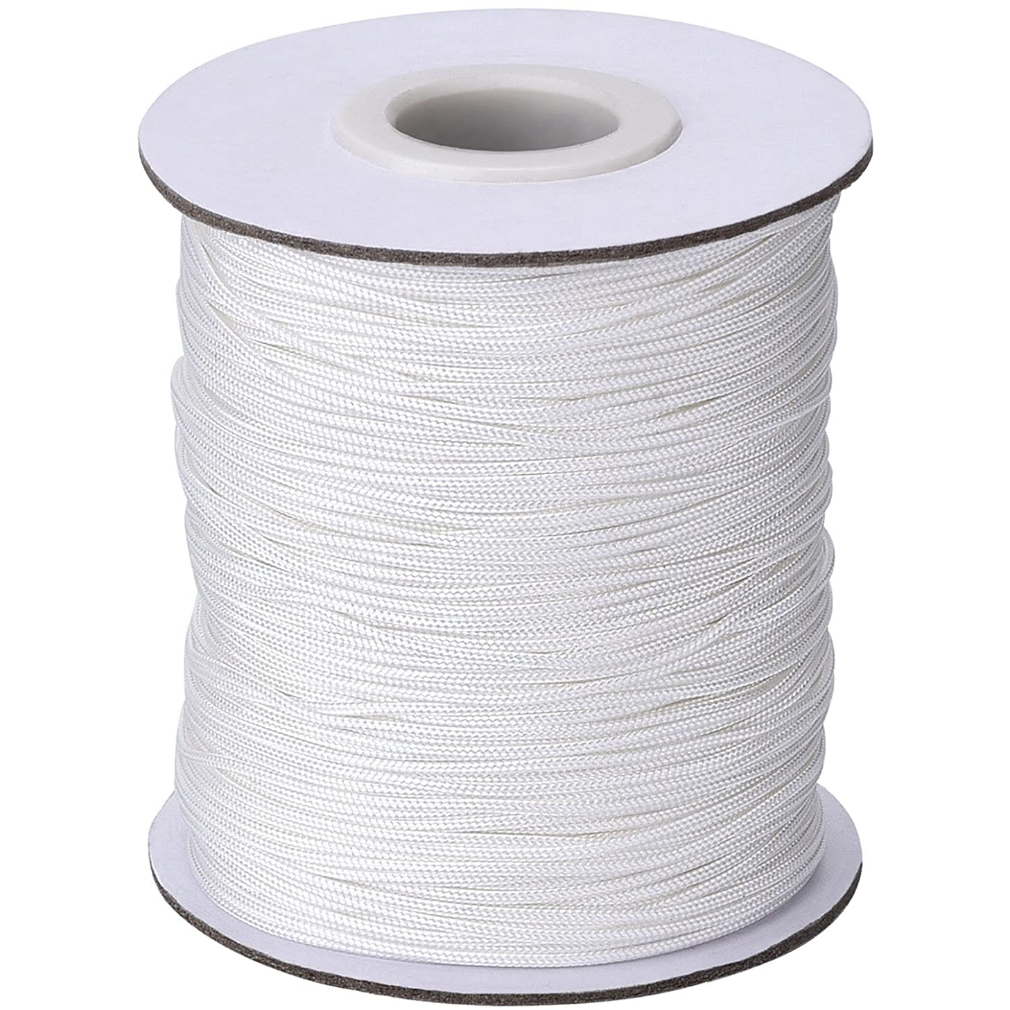 Outus 109 Yards/Roll White Braided Lift Shade Cord for Aluminum Blind Shade, Gardening Plant and Crafts (1.0 mm)