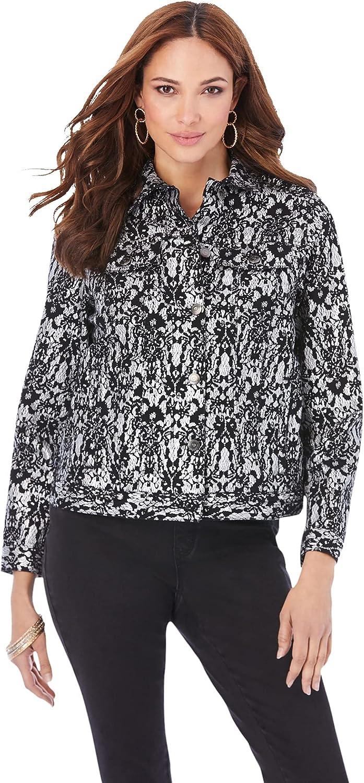 Roaman's Women's Plus Size Statement Denim Jacket
