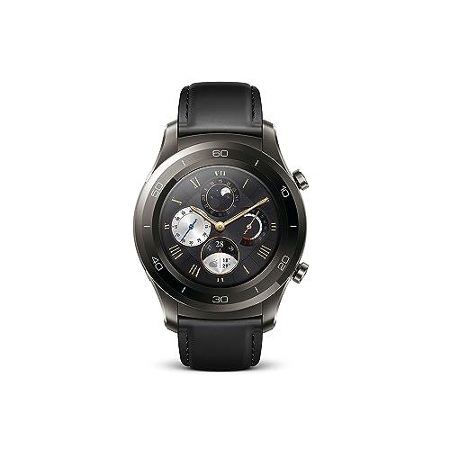 Huawei - Watch 2 Classic - Montre GPS sport connectée - Smartwatch pour Android et iOS - Noir