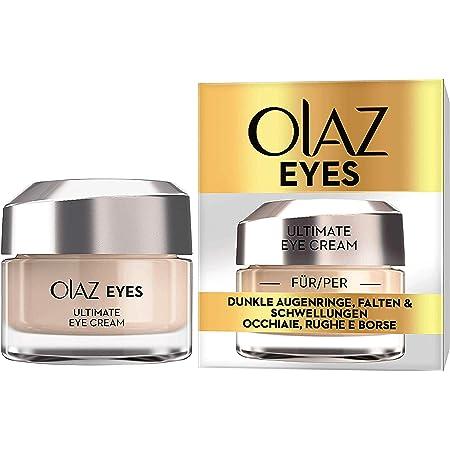 Olaz Eyes Ultimate Crema Contorno Occhi Tutto in 1, Idrata, Sgonfia e Illumina lo Sguardo, Ottima contro le Occhiaie e le Rughe, senza Profumo, 15 ml