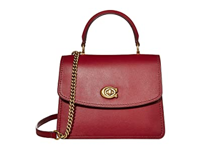 COACH Parker Top-Handle (Deep Red/Brass) Handbags