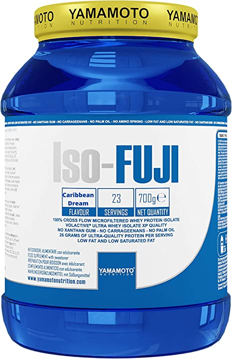 Yamamoto Nutrition Iso-Fuji Aisló Proteínas de Suero Ultra Filtradas, Sabor Caribbean Dream - 700 gr