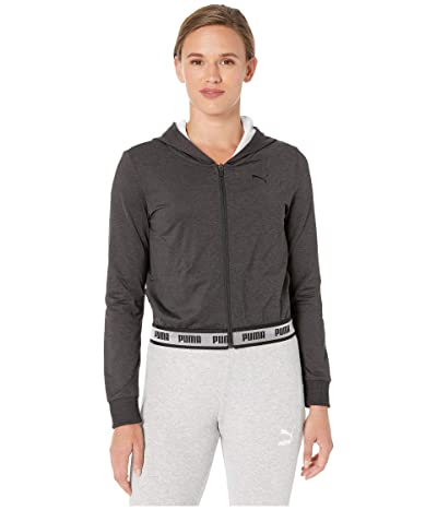 PUMA Soft Sports Drapey Full Zip Hoodie (PUMA Black) Women