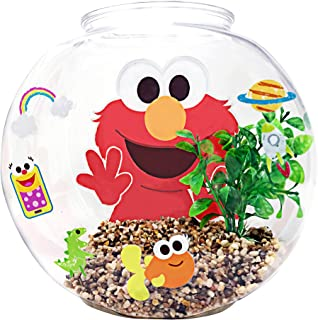 Penn-Plax Officially Licensed Sesame Street Elmo's World Fish Bowl Kit – Great Way to Teach Young Beginners How to Maintai...