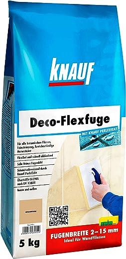 Knauf Deco-Flexfuge – Wand Fliesen-Mörtel auf Zement-Basis: pflegeleicht dank Knauf Perleffekt, schnell-härtend, passend zur Fliesenfarbe,…