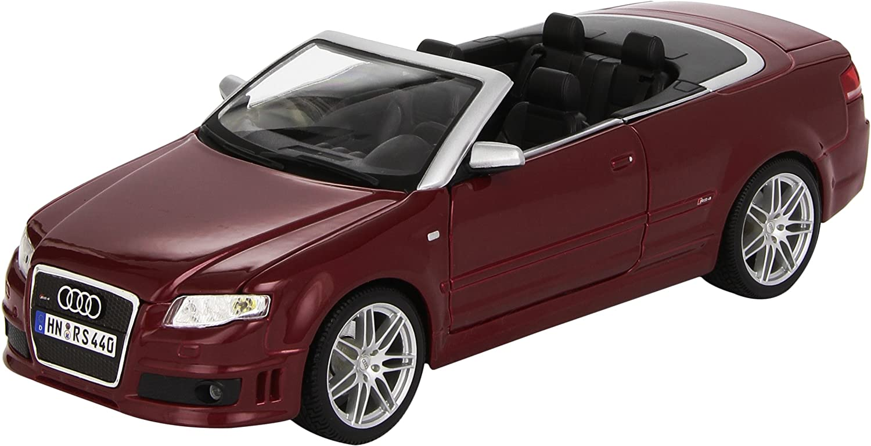 Maisto 1 18 Scale Audi RS4 Cabrio 07 Model Car (Maroon)