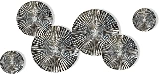 Craftter 6 pcs Mirror Finish Handmade Metal Wall Art Sculpture Wall Decor and Hanging Antique and Contemporary Wall Art D...