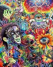 "NewBrightBase Psychedelic Trippy Art Fabric Cloth Rolled Wall Poster Print 16""x13""(40cmx33cm) I"