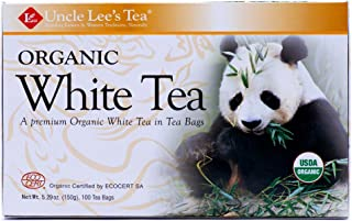Uncle Lee's Tea, Legends of China, Organic White Tea, 100 Tea Bags, 5.29 oz (150 g) - 2pcs