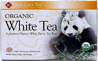 Uncle Lee's Tea, Legends of China, Organic White Tea, 100 Tea Bags, 5.29 oz (150 g) - 2pcs
