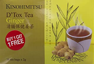 Kinohimitsu D'Tox Tea, Ginger, 2g (Pack of 28)