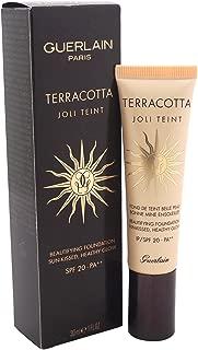 Guerlain Terracotta Joli Teint Beautifying Foundation SPF 20, Ebony, 1 Ounce