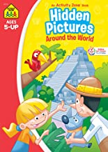School Zone - Hidden Pictures Around the World Workbook - Ages 5 and Up, Hidden Objects, Hidden Picture Puzzles, Geography...
