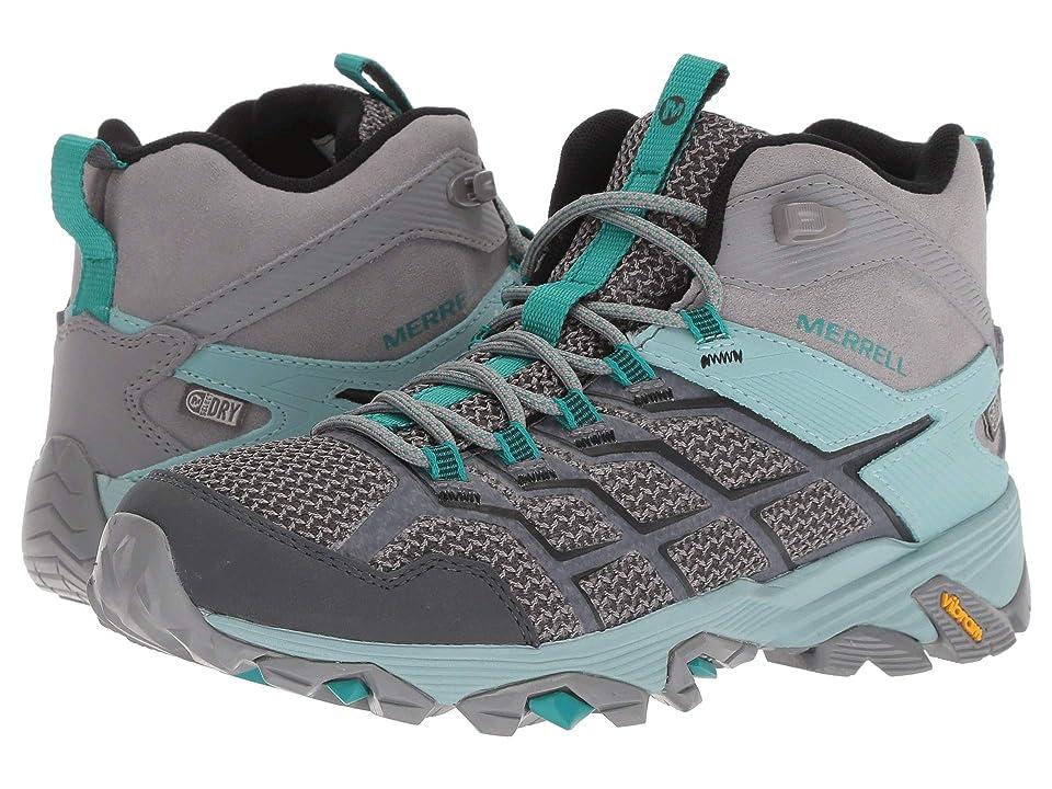 62771ac9e37 Merrell Moab FST 2 Mid Waterproof (Frost/Aquifer) Women's Hiking Boots