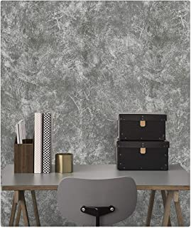 DWIND D9262 Vinly industry concrete Contact Paper Peel and Stick Wallpaper Self Adhesive Removable Oilproof wallpaper for ...