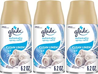 Glade Automatic Spray Refills, Air Freshener Refills, Clean Linen, 6.2 Oz, Pack of 3