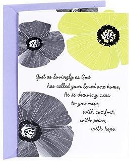 Hallmark Mahogany Religious Sympathy Greeting Card (His Perfect Peace and Love)