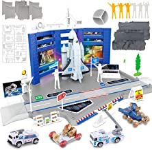 Liberty Imports Mega Space Station Kids Pretend Playset - Toy Space Shuttle, Rocket, Rovers, Astronaut Figures, Vehicles &...