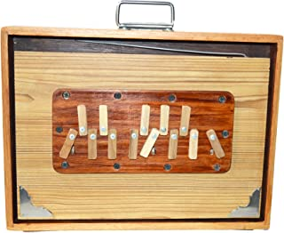 Shruti Box, SAI Musicals, Shruthi Box, Large 16x12x3 Inches, Sur Peti Surpeti, With Bag, Natural Color, Musical Instrument Indian (PDI-EFE)