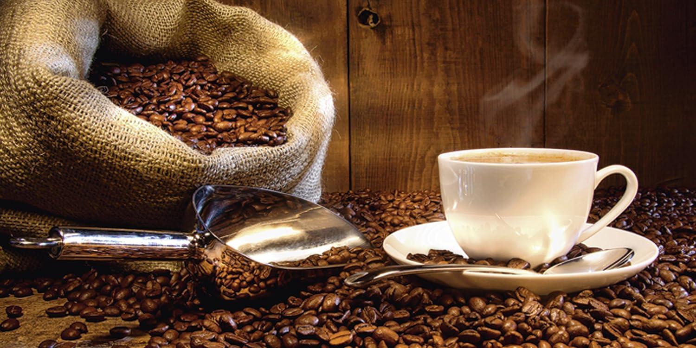 Artland Qualitätsbilder I Glasbilder Deko Glas Bilder 60 x x x 30 cm Ernährung Genuss Getränke Kaffee Foto Braun B2XR Tasse Leinensack Kaffeebohnen B00WHI7CRC 037597