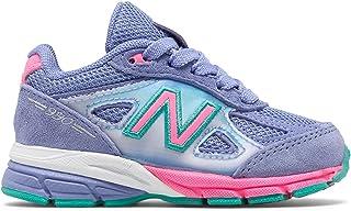 (ニューバランス) New Balance 靴?シューズ キッズランニング 990v4 Purple with Pink パープル ピンク US 7.5 (15cm)