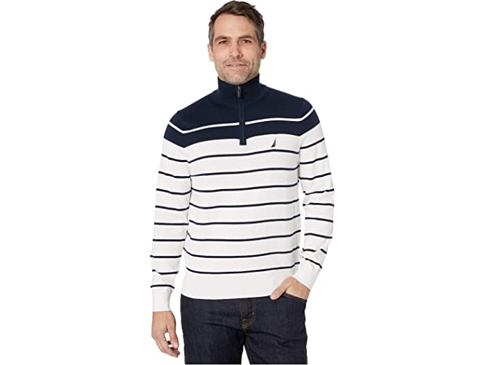 Nautica Boys Big Printed 1//4 Zip Logo Pullover Sweater