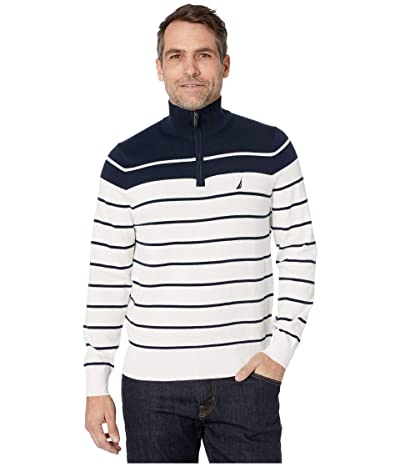 Nautica 1/4 Zip Pullover Sweater (Marshmallow) Men