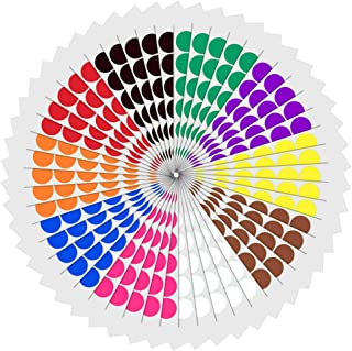 1 inch Round Color Coding Circle Dot Sticker Labels - 10 Assorted Colors, Pack of 1200
