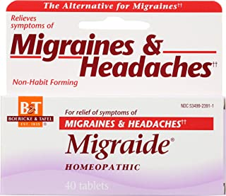 Boericke & Tafel Migraide Migraines and Headaches Homeopathic, 40 Count