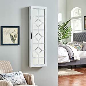 FirsTime & Co. White Eloise Jewelry Armoire, 47