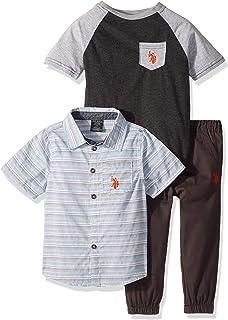 Boys' Short Sleeve Shirt, T-Shirt and Pant Set