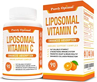 Premium Liposomal Vitamin C Supplement - High Absorption, Fat Soluble Ascorbic Acid Vitamin C 1000mg for Immune Support - ...