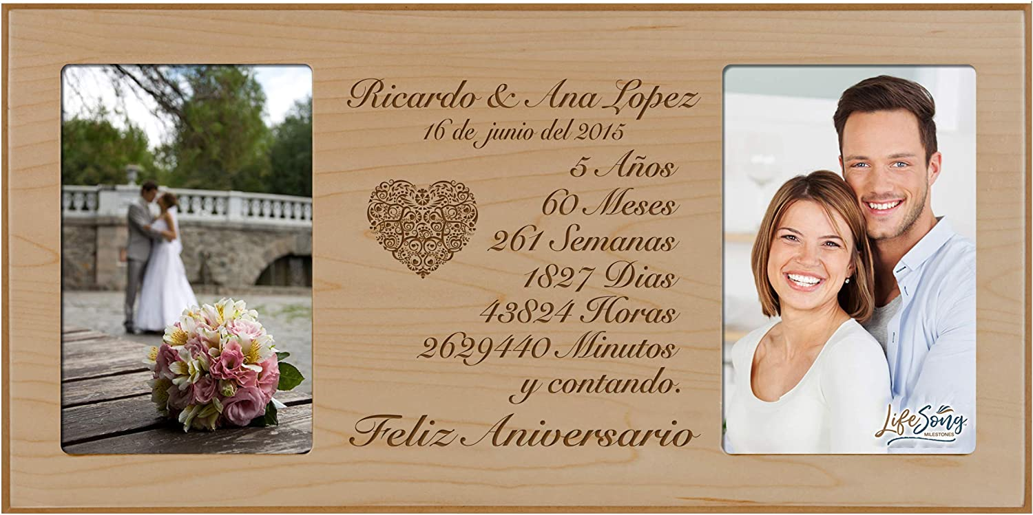 LifeSong Milestones Personalized 5th Anniversary Ranking TOP2 M Picture Max 45% OFF Frame