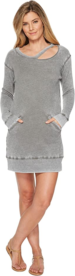 Allen Allen - Long Sleeve Cut Neck Crew Dress