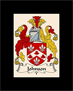 Carpe Diem Designs Johnson Coat of Arms/Johnson Family Crest 8X10 Photo Plaque, Personalized Gift, Wedding Gift